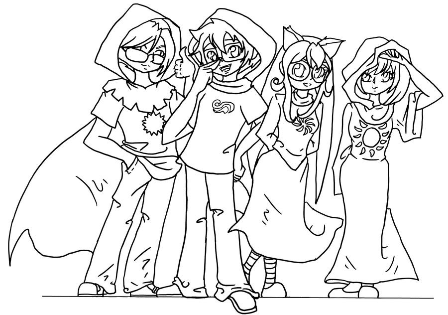 Homestuck coloring pages