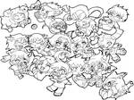 Homestuck characters-lineart