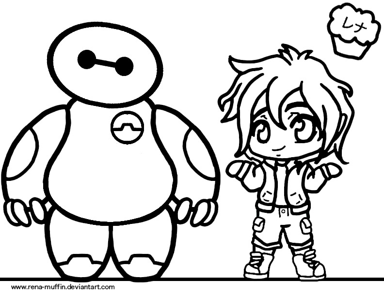 big hero 6 coloring pages - big hero 6 coloring sheet by rena muffin on deviantart