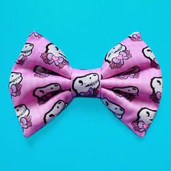 Micro Mini Pink T-Rex Hair Bow by misstaraleexo