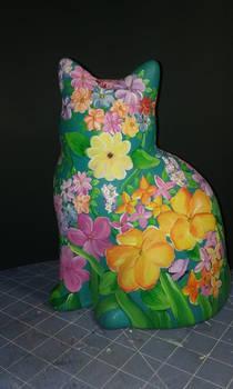 Flower Cat back view
