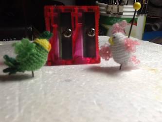 Tiny Crochet Birds by BegetBaubbles