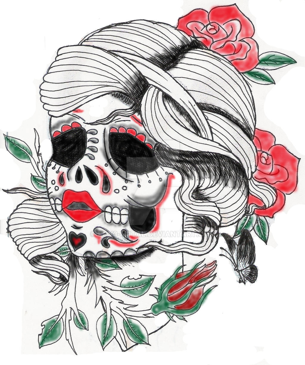 Skulls Tattoo Design Wallpaper: Sugar Skull Tattoo Design By Lov3-m3tal On DeviantArt