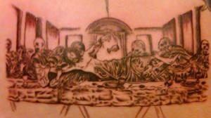 Zombie Last Supper Tattoo
