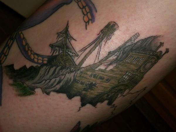 Sunken Pirate Ship tattoo by ~xxmatt-thomasxx on deviantART