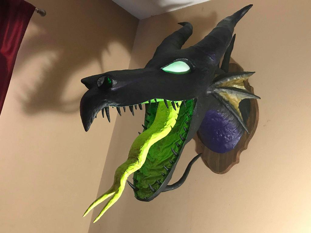 Maleficent sleeping beauty dragon trophy head  by