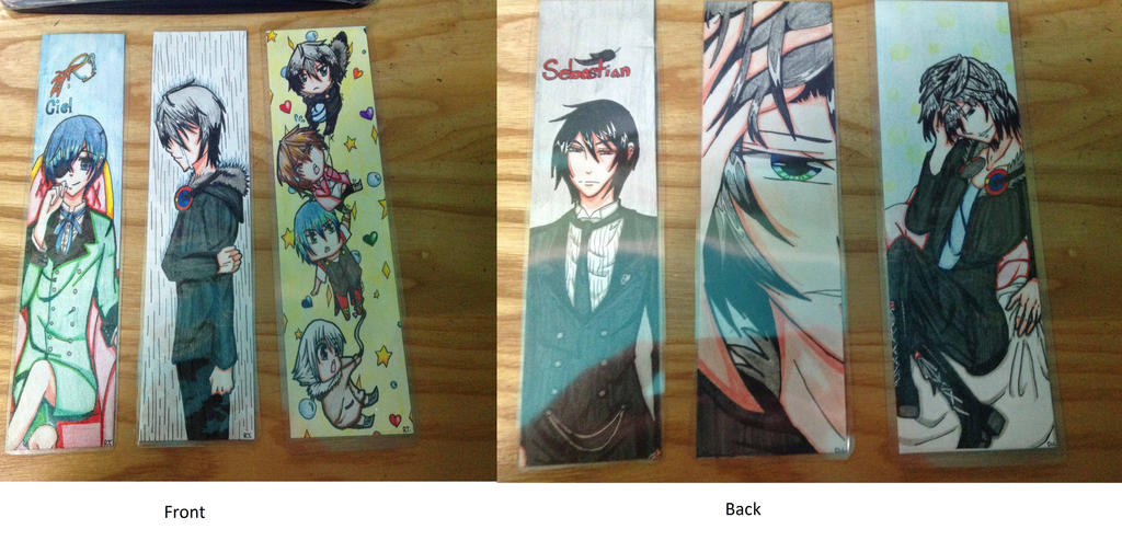 custom bookmarks all by blkwingsgirl on deviantart