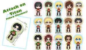 SNK Chibi Pillow Designs!