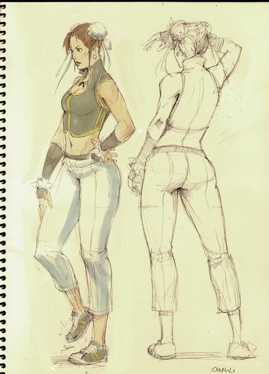 Chun li ALT sketch by kasai