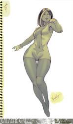 Commissh - Galactic Girl by kasai