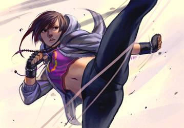 Mei Ning kickin it by kasai