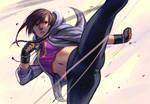Mei Ning kickin it