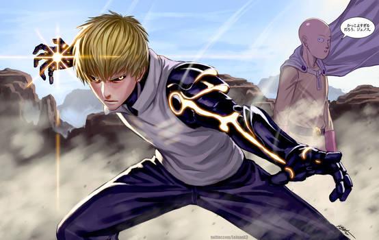 Genos and Saitama by kasai