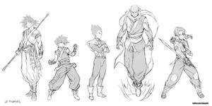 Z fighters redesigns