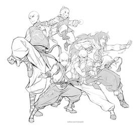 Dragon Bald Z + Yamcha by kasai