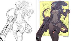Commission - Alien Girl