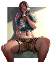 Lara Croft sfw-nsfw by kasai