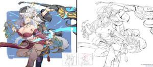 Commission - Aranea and Miyuki