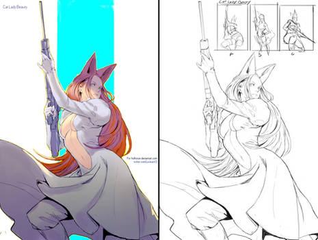 Commission - Cat Lady Beauty