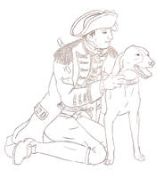 General Howe and his Dog
