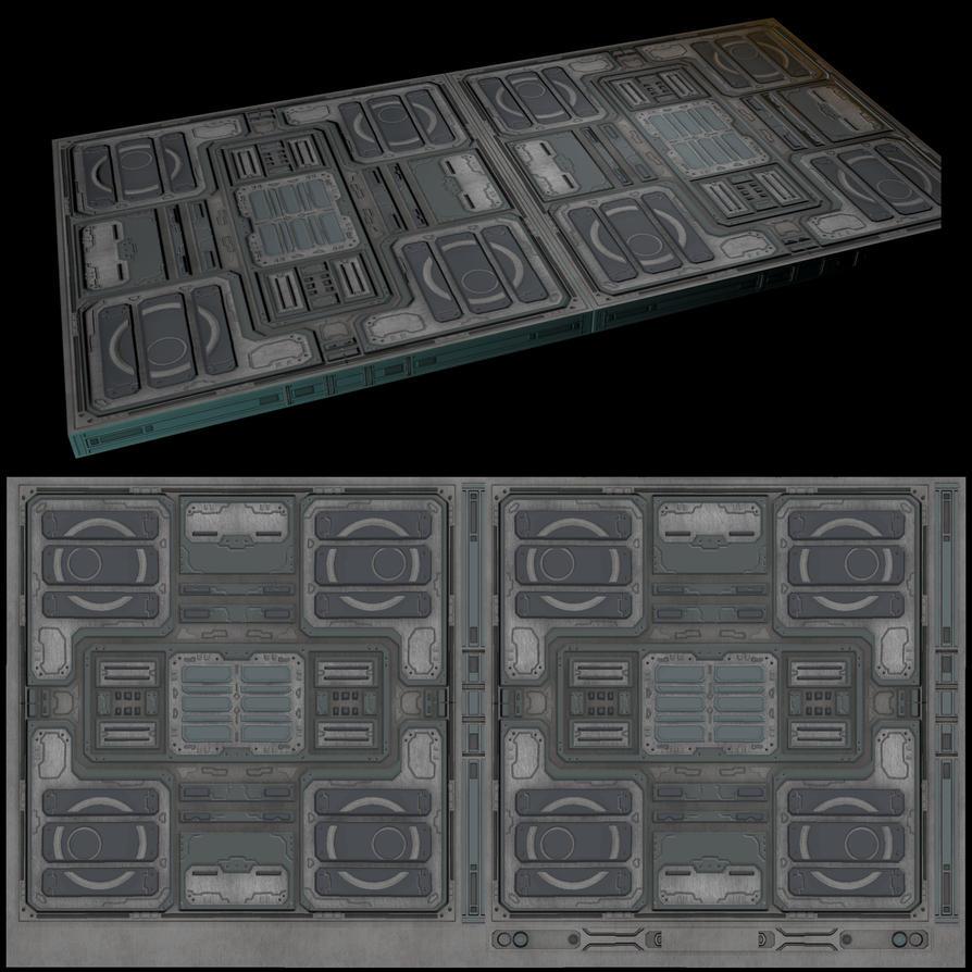 Scifi Floor MapandLowpoly by justinmanas