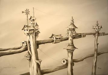 Inhabited fence by JoachimL