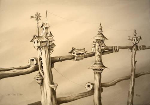 Inhabited fence