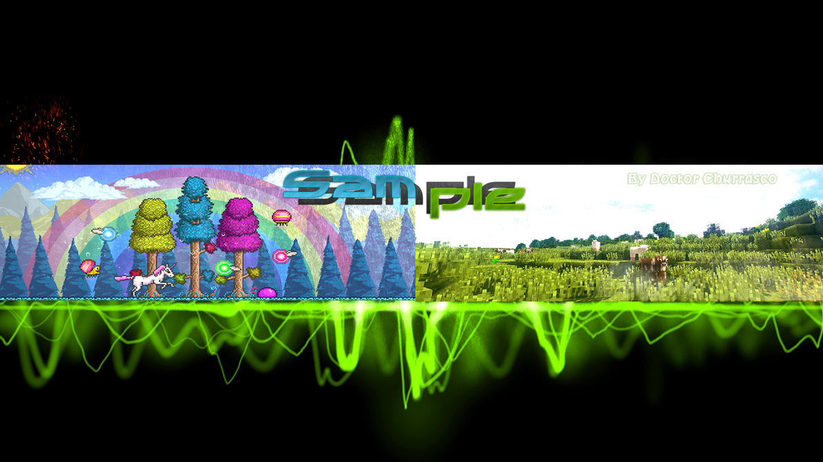 Terraria+Minecraft-Youtube-Banner-Sample By