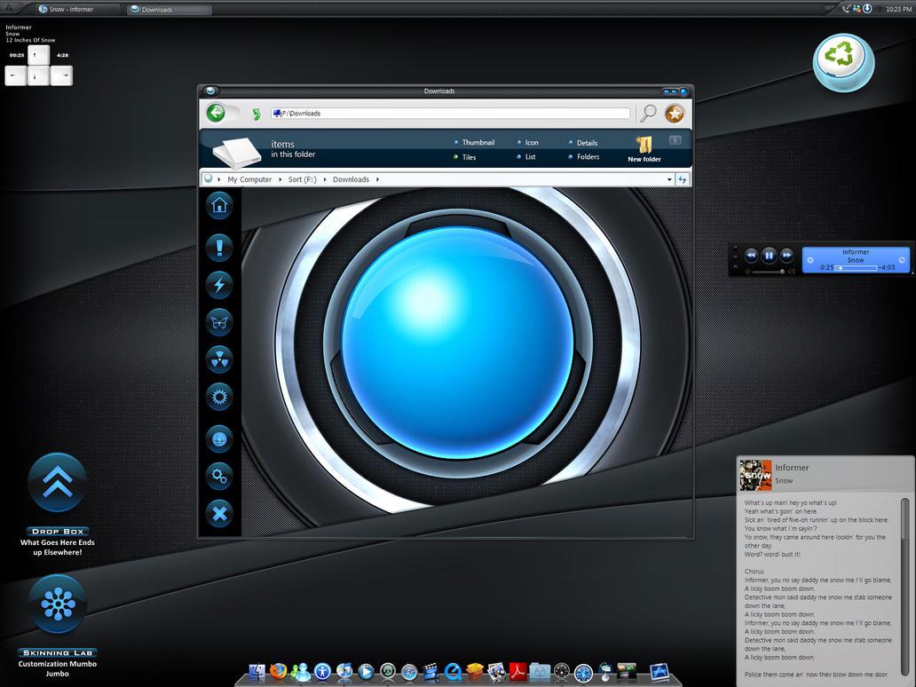 Black and Blue Desk by samiryawar