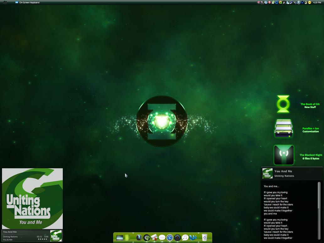 Green Lantern's Mighty Desk by samiryawar