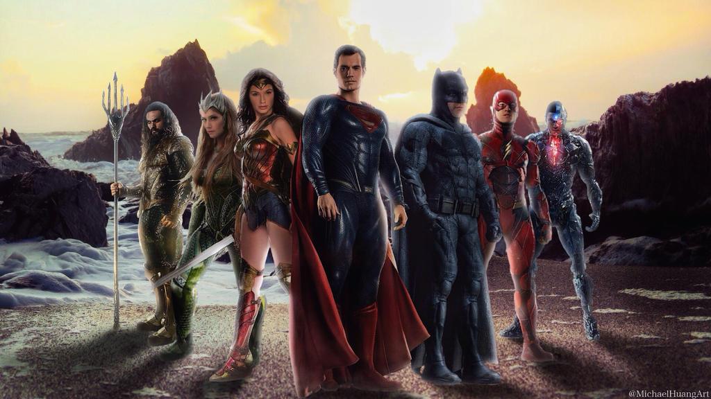 Justice League Wallpaper 2 By MichaelHuangArt
