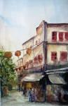Watercolor - Chinatown III by Zeon1309