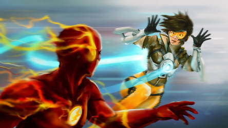 Tracer vs Flash by Zeon1309