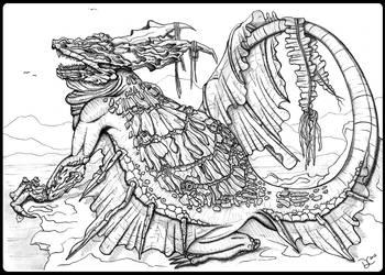 Sea Dragon Sketch by TempestWorks