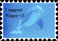 Winter the Dolphin support stamp by kfc28371