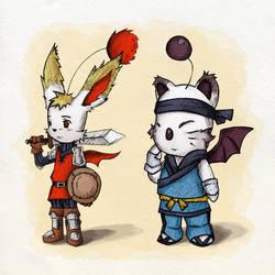 Warrior and Monk Moogle