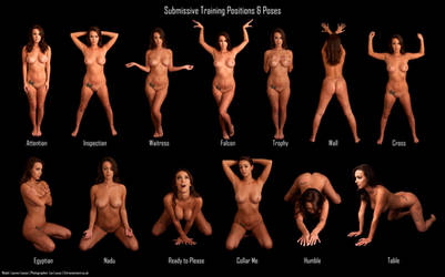 Submissive Pose Chart: Lauren Louise by LexLucas