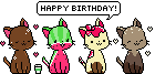 Happy Birthday cats by KimkahMakara
