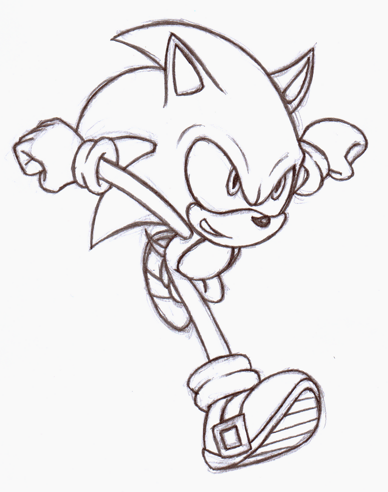 sonic unleashed coloring pages - sonic unleashed redrawing by mascarathecat on deviantart