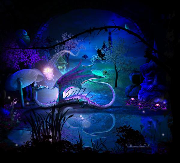 Magic Dragon's Lair by Manwathiell
