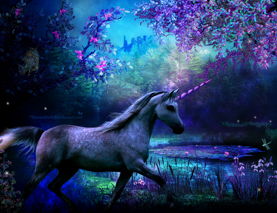 Twilight Unicorn by Manwathiell