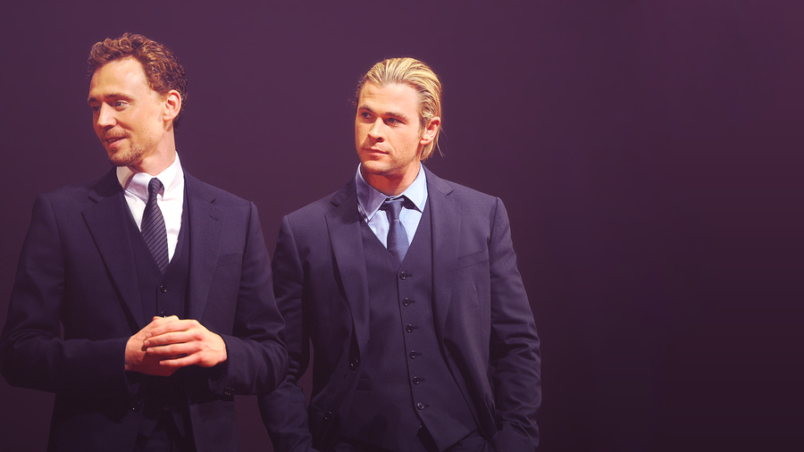 Tom Hiddleston and Chris Hemsworth by Kiira96 on DeviantArt