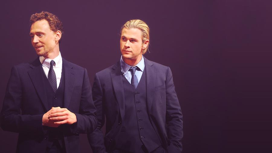 Tom Hiddleston and Chris Hemsworth by Kiira96 on DeviantArt
