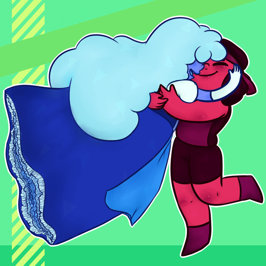 The two space cuties from Steven Universe who make a even bigger cutie!!    don't ask about the background I really don't know