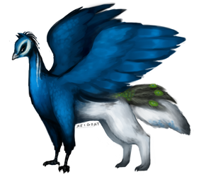 Peacock wolf by MeiGoat