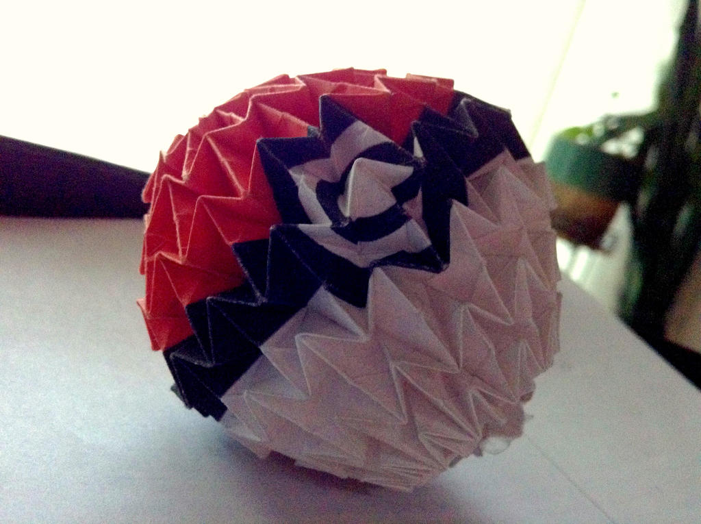 Origami Pokeball By Mycatisawesome On Deviantart