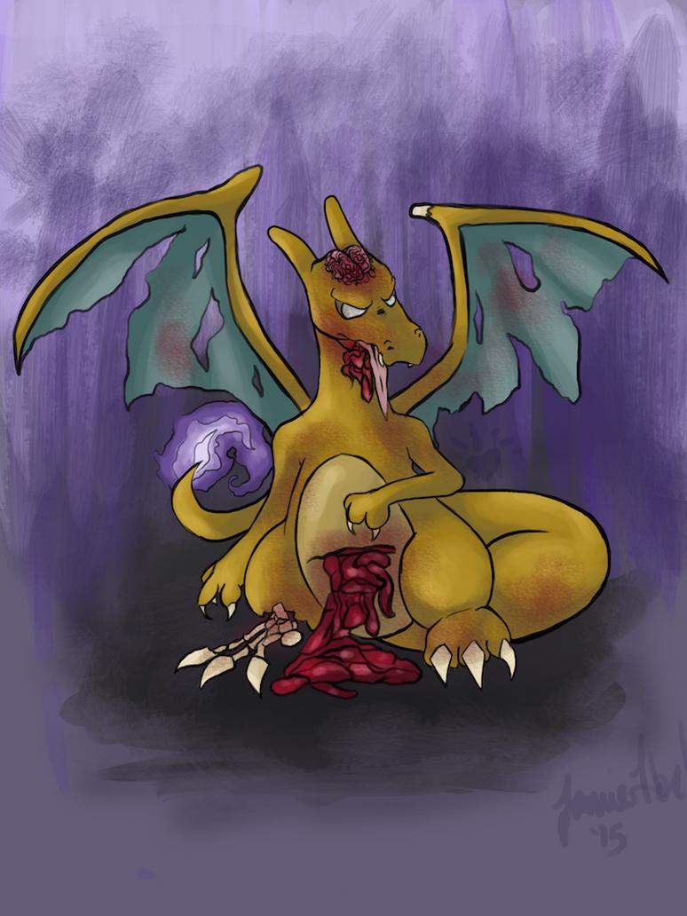 Charizard Zombie by StrykNin3