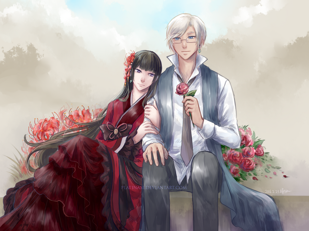 Between Lilies and Roses by PlatinaSi