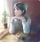 quiet tea-time