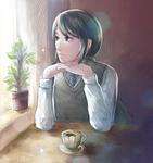 quiet tea-time